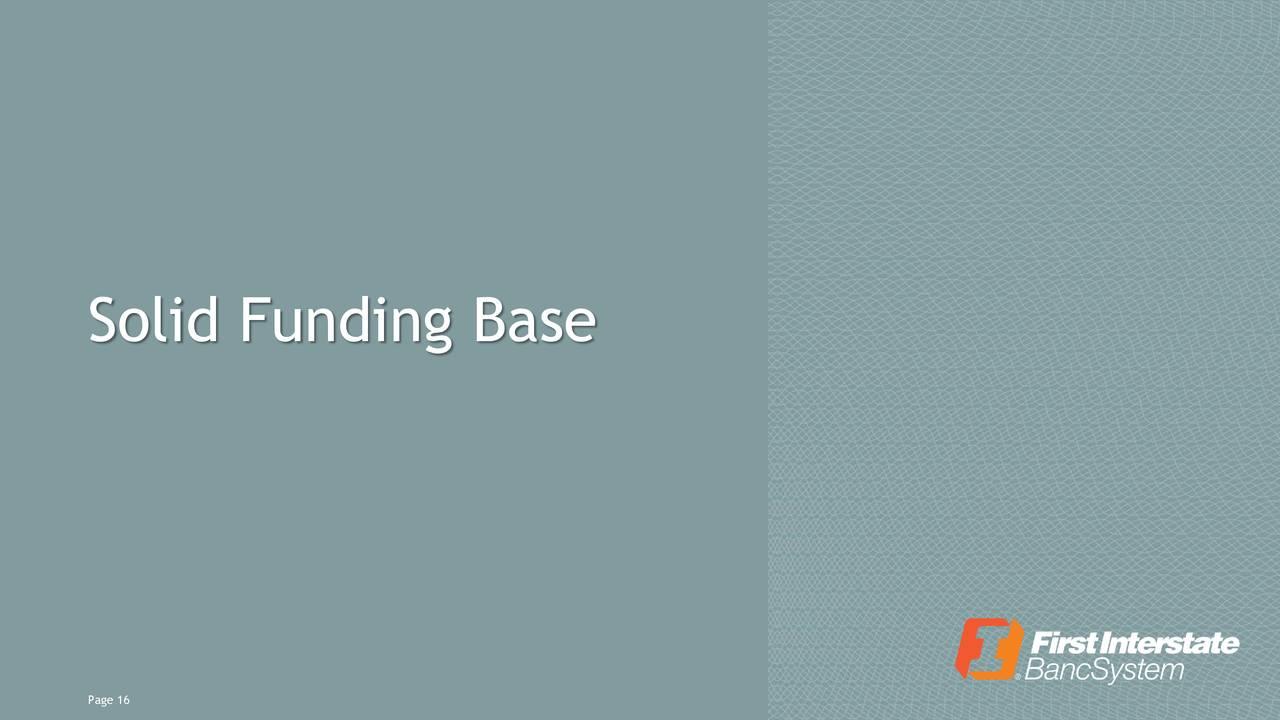 Base de financiación sólida