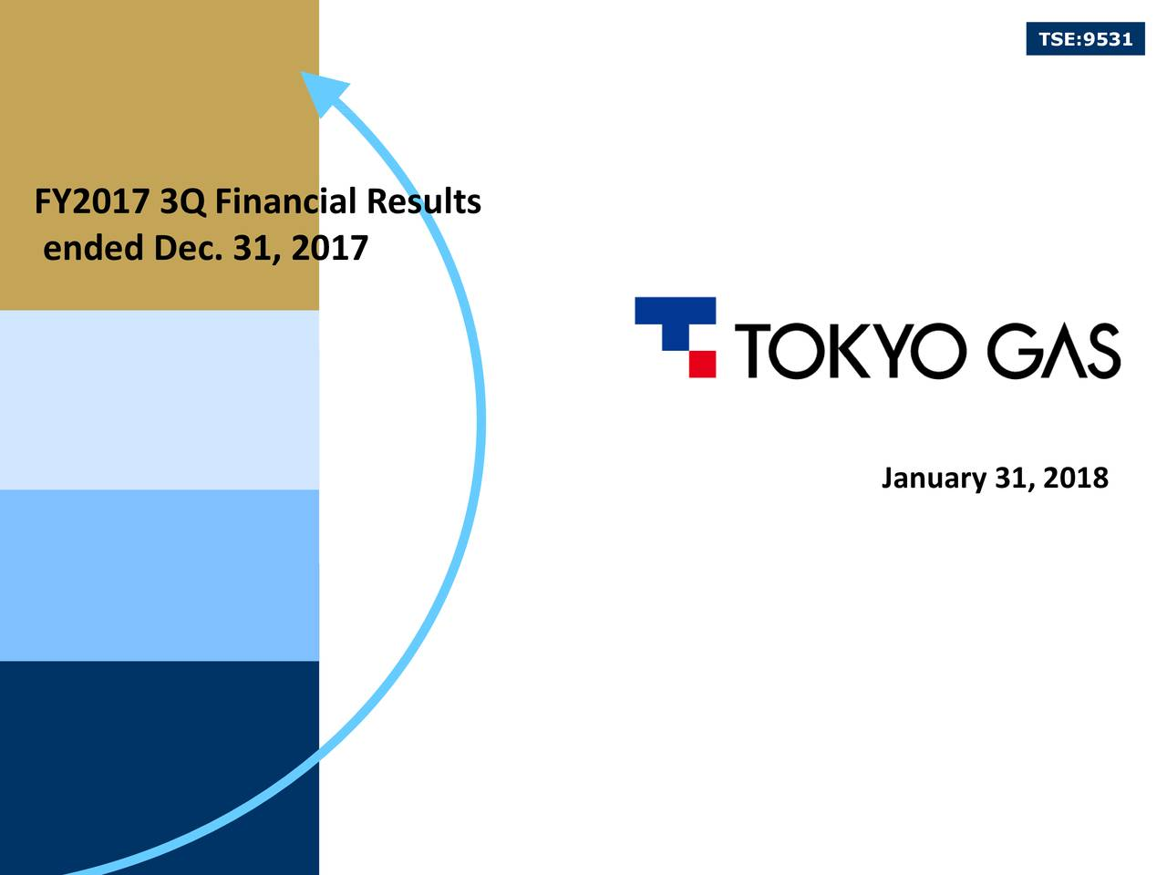 FY2017 3Q Financial Results ended Dec. 31, 2017 January 31, 2018