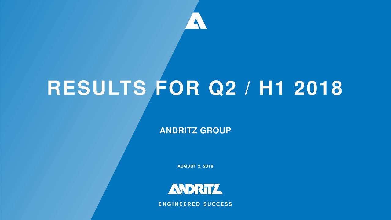 ANDRITZ GROUP AUGUST 2, 2018
