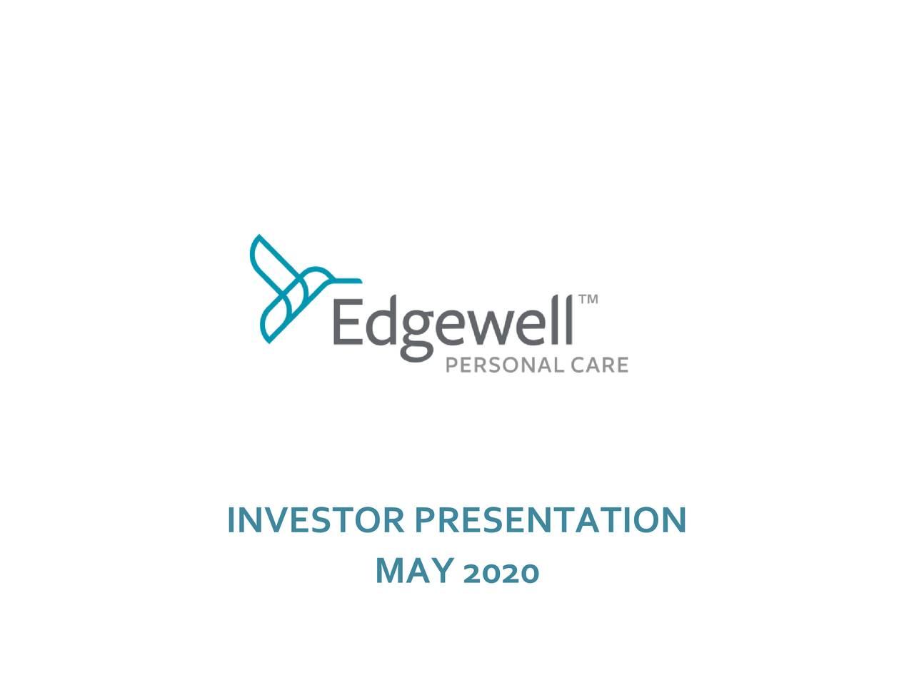 Edgewell Personal Care (EPC) Investor Presentation - Slideshow (NYSE:EPC)