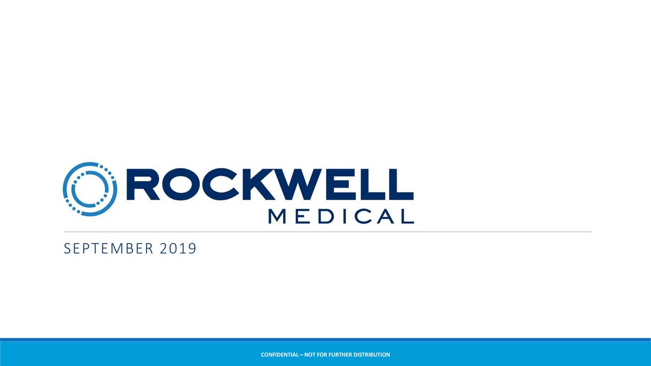 Rockwell Medical (RMTI) Presents At 26th Annual NewsMakers In The Biotech Industry - Slideshow