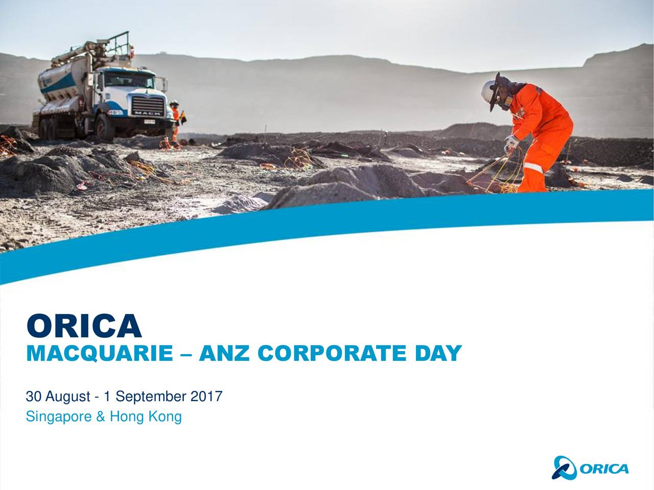 MACQUARIE  ANZ CORPORATE DAY 30 August - 1 September 2017 Singapore & Hong Kong