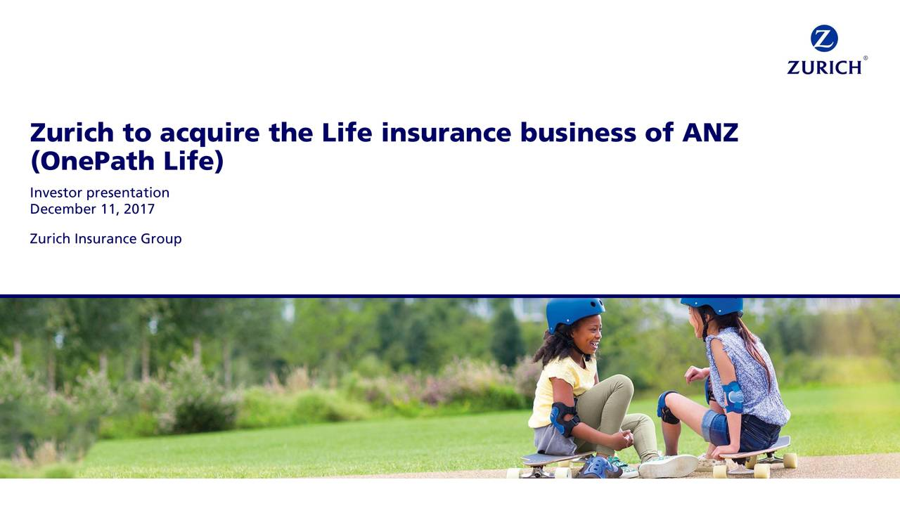 Zurich Life Insurance Quote Zurich Insurance Zurvy To Acquire The Life Insurance Business Of