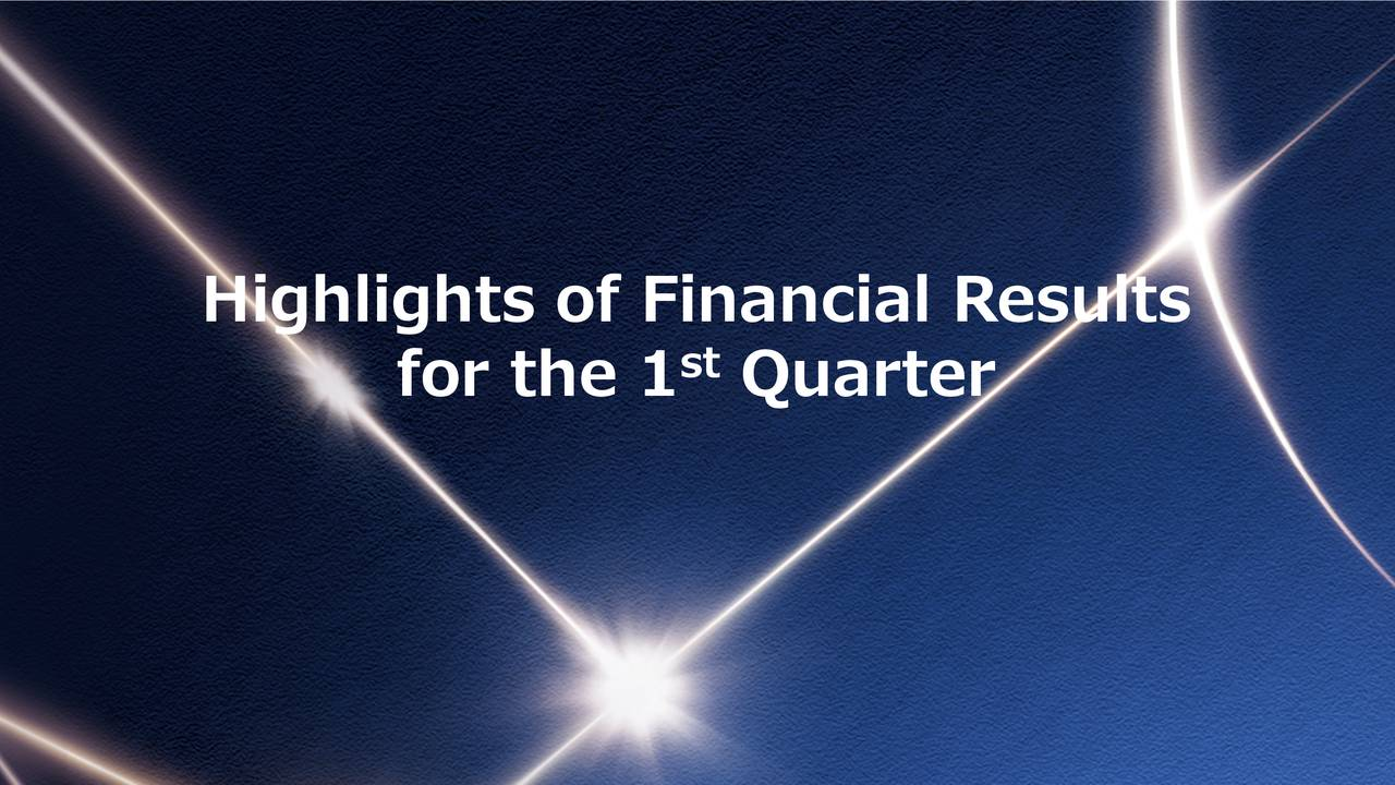 Highlights of Financial Results
