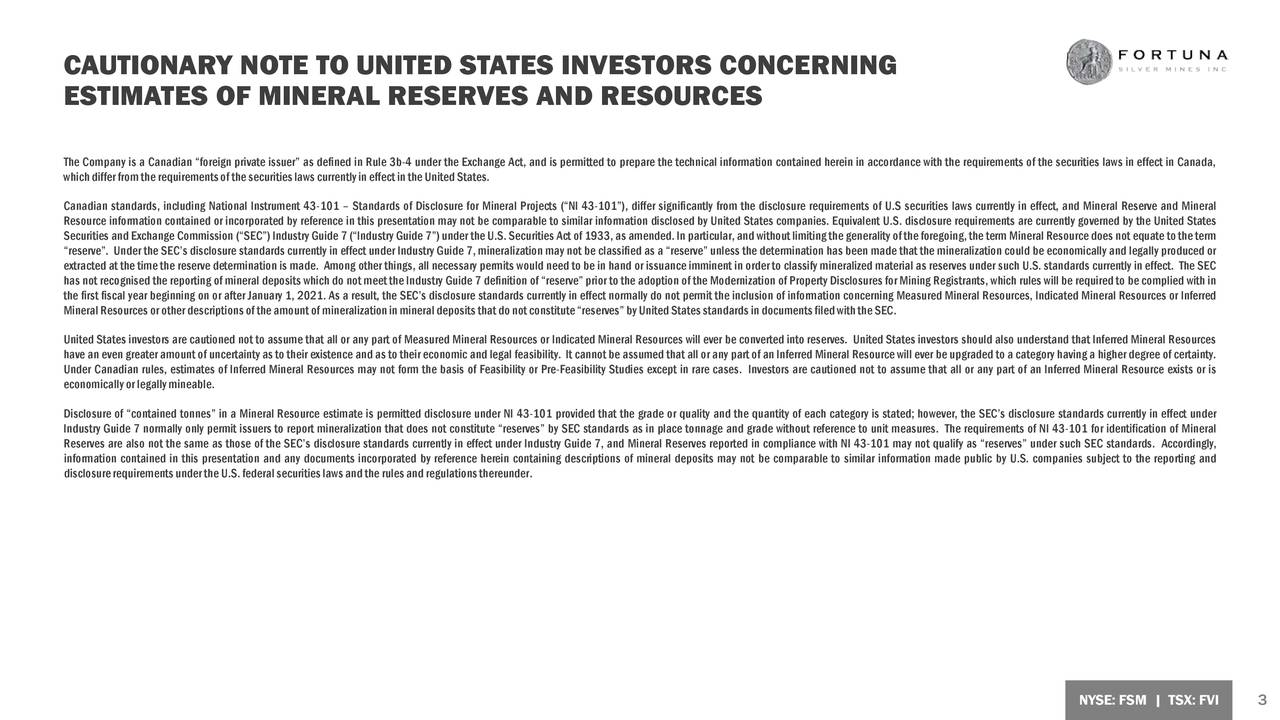 CAUTIONARY NOTE TO UNITED STATES INVESTORS CONCERNING