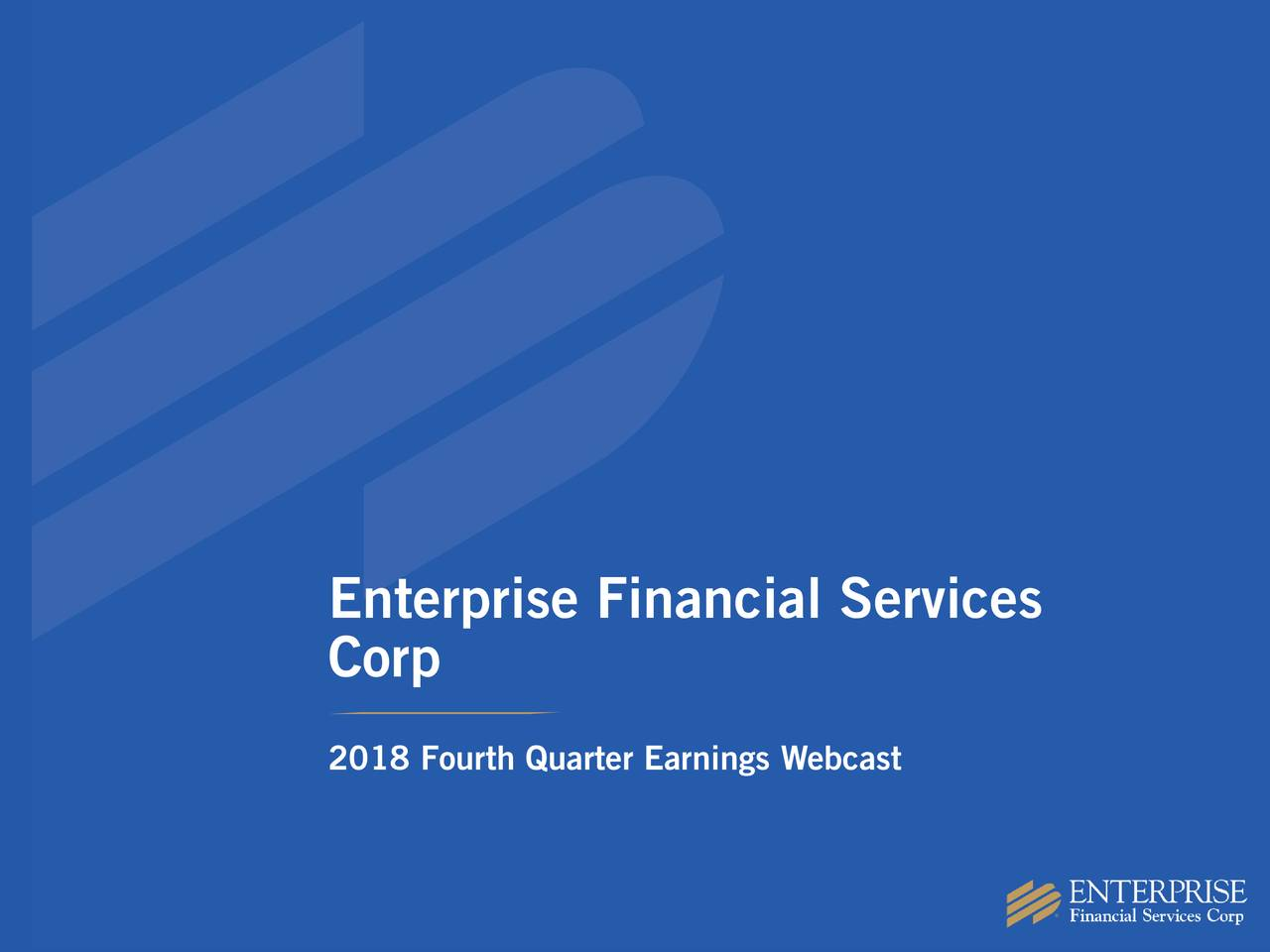 Corp 2018 Fourth Quarter Earnings Webcast