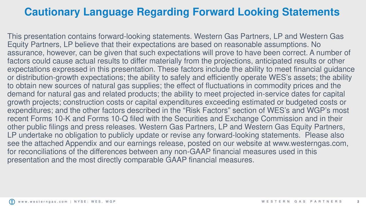 Cautionary Language Regarding Forward Looking Statements