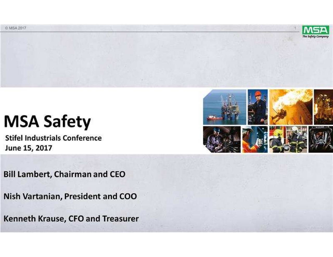 MSA Safety Incorporated (MSA) Presents At Stifel Industrials