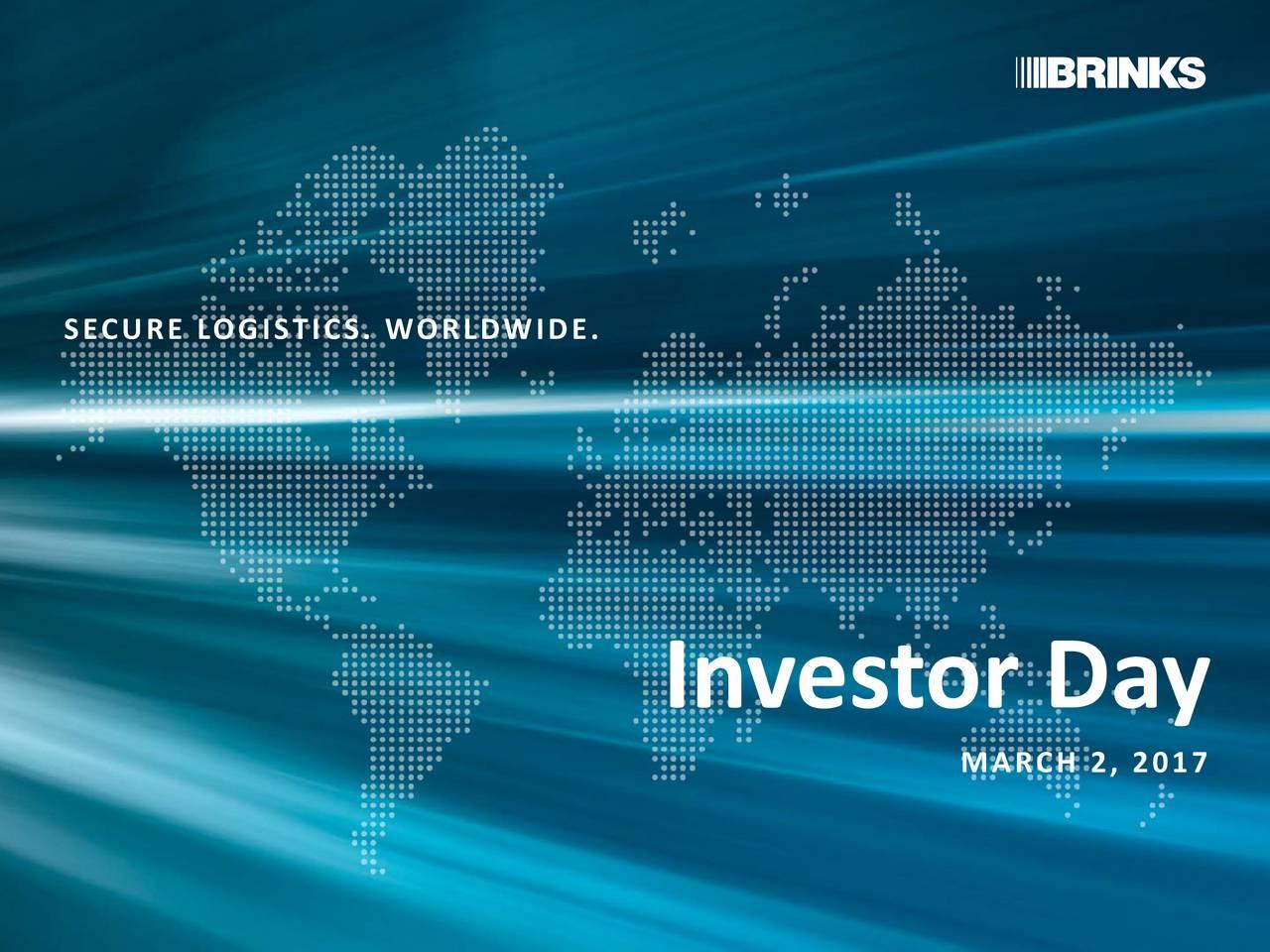 Investor Day MARCH 2, 2017