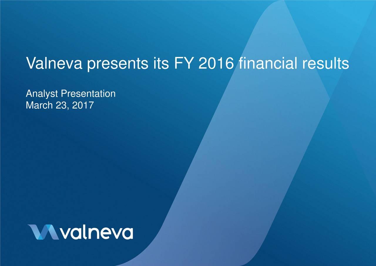 Analyst Presentation March 23, 2017