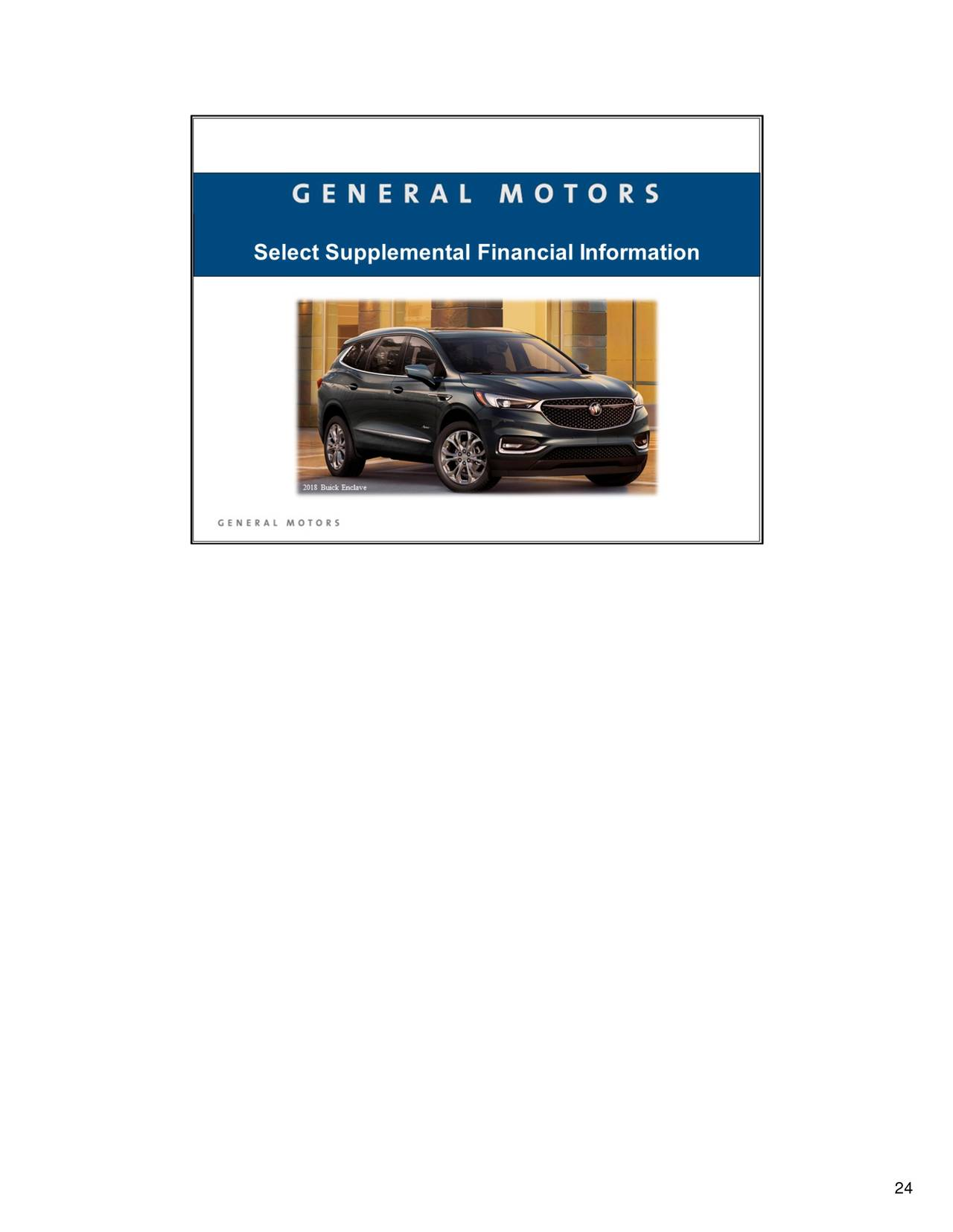 General Motors Company 2017 Q3 Results Earnings Call