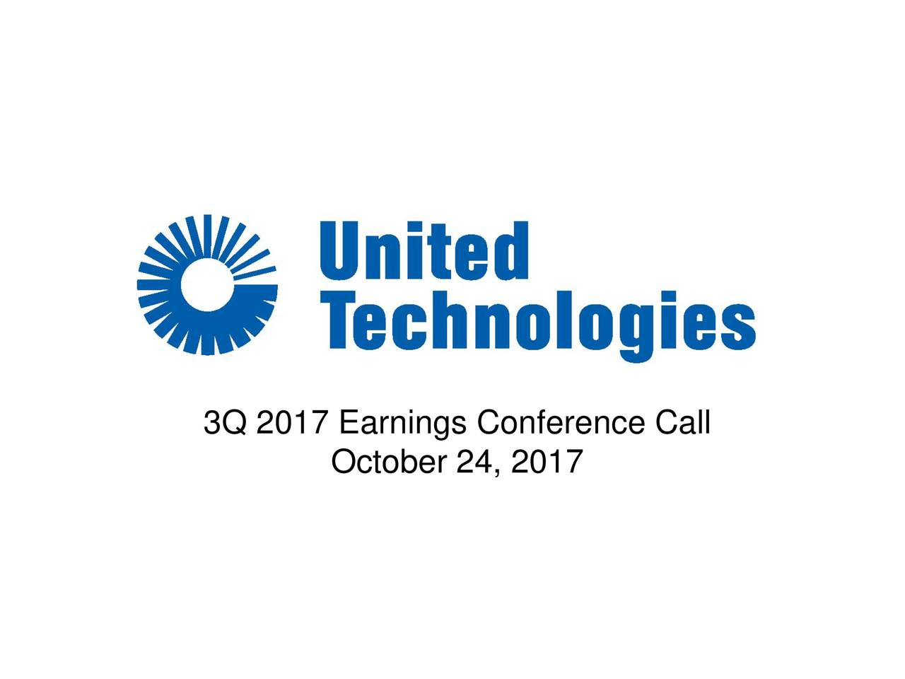 3Q 2017 Earnings Conference Call