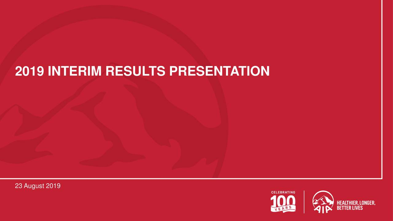 AIA Group Limited 2019 Q2 - Results - Earnings Call Slides
