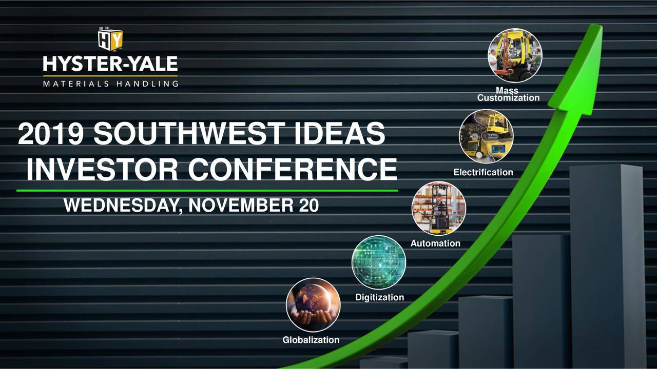 Hyster-Yale Materials Handling (HY) Presents At Southwest IDEAS Investor Conference - Slideshow - Hyster-Yale Materials Handling, Inc. (NYSE:HY)   Seeking Alpha