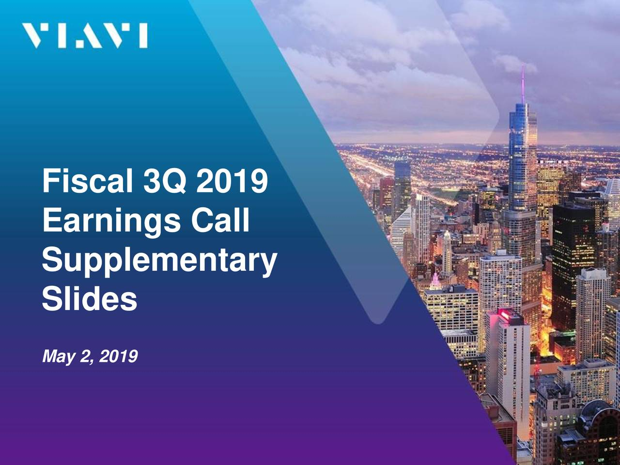 Earnings Call Slides: Viavi Solutions Inc. 2019 Q3