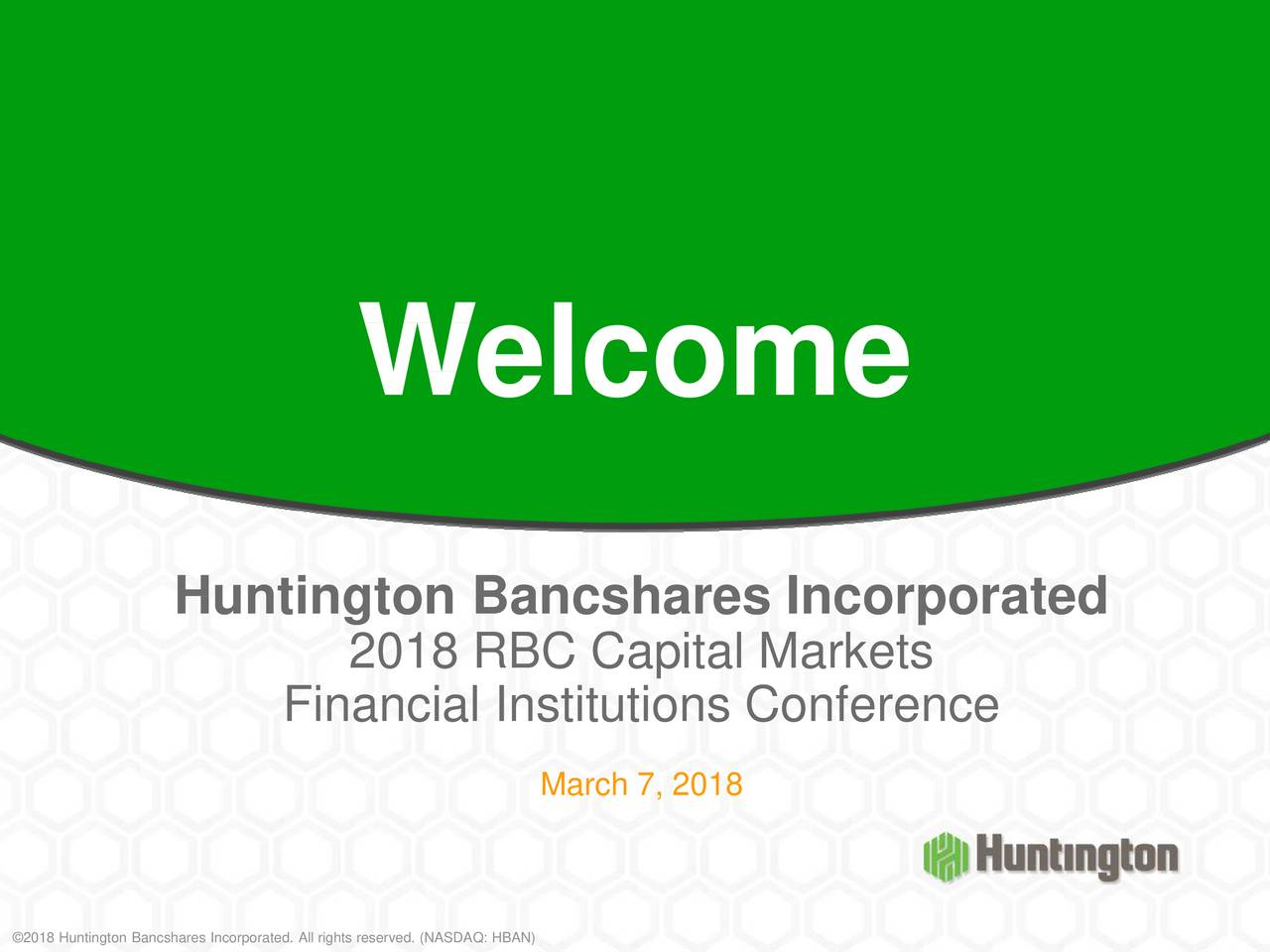 Huntington Bancshares (HBAN) Presents At 2018 RBC Capital ...