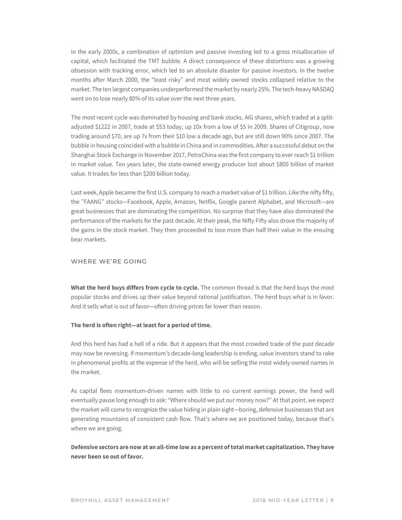 broyhill asset management mid-year letter 2018