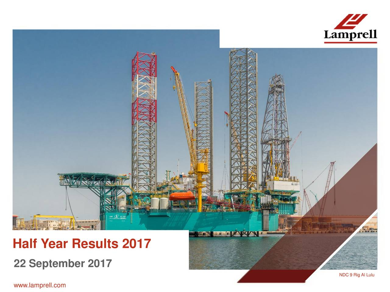 Lamprell PLC ADR 2017 Q2 - Results - Earnings Call Slides