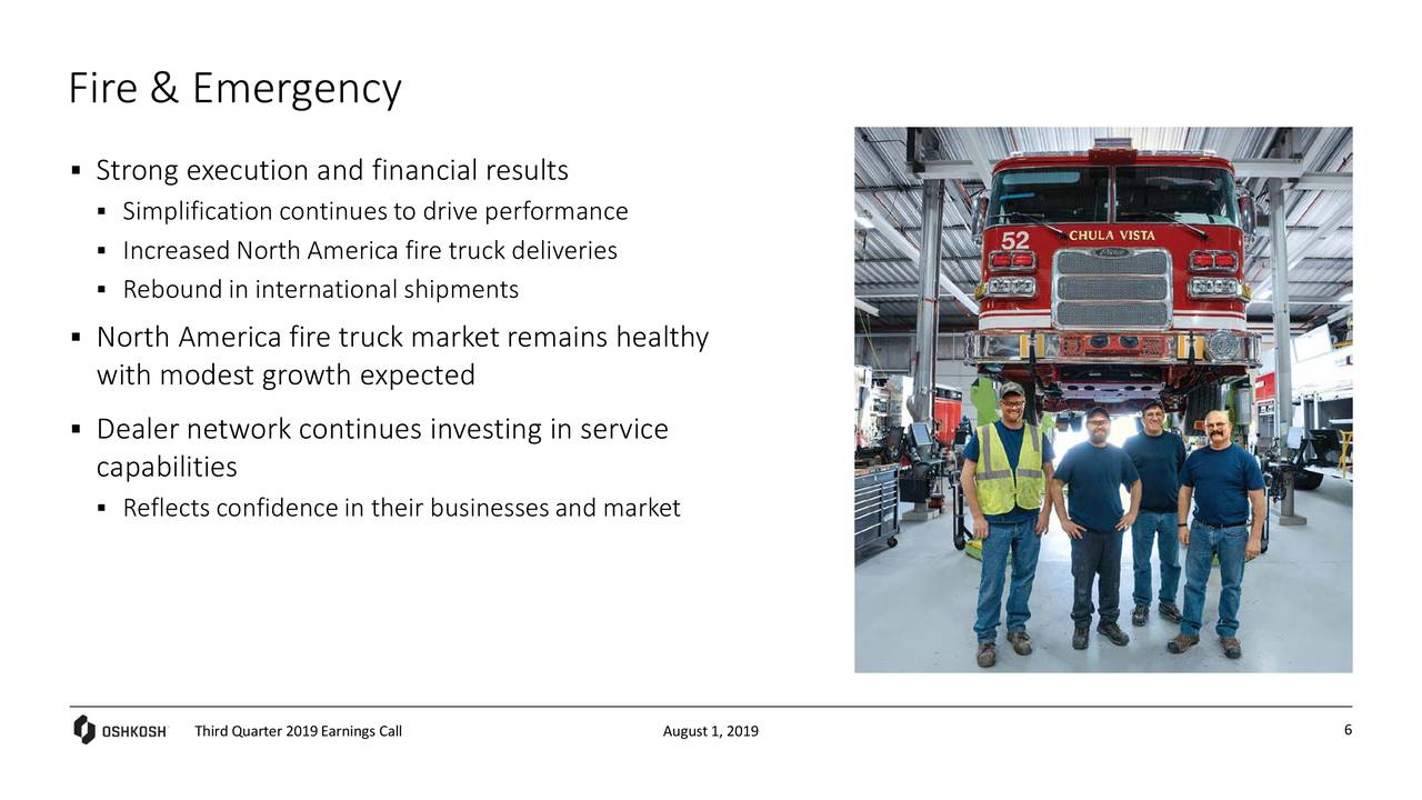 Oshkosh Corporation 2019 Q3 - Results - Earnings Call Slides