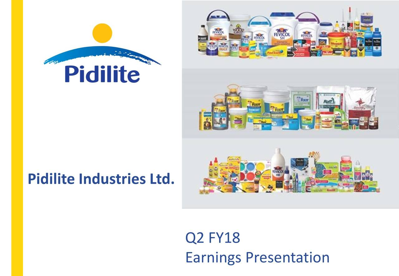 Pidilite Industries Ltd Adr 2018 Q2 Results Earnings Call Slides Otcmkts Pdlty Seeking Alpha