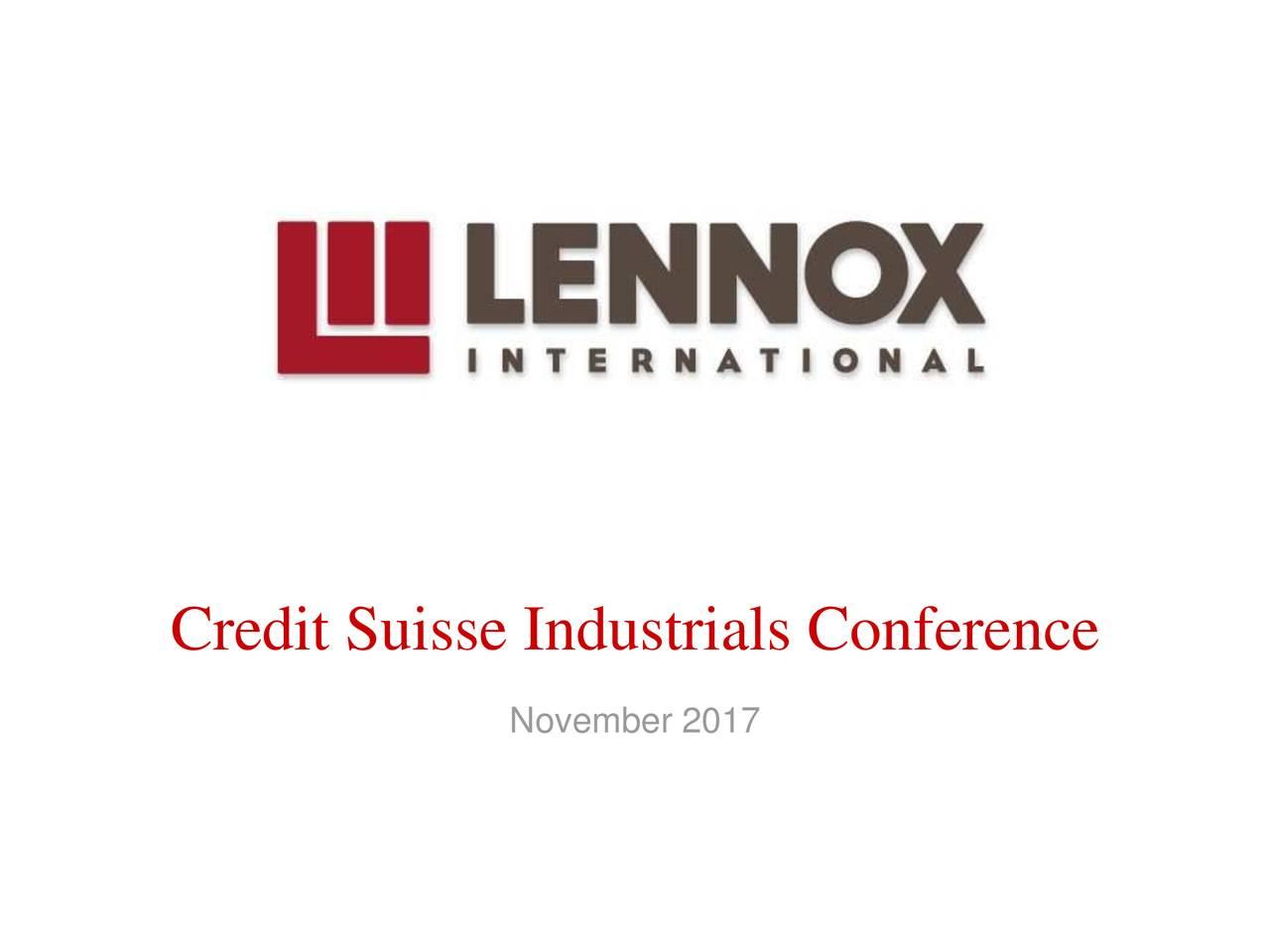 Credit Suisse Industrials Conference
