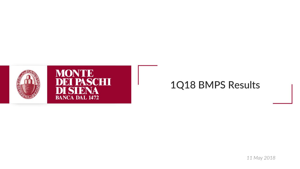 Banca Monte Dei Paschi Spa Adr 2018 Q1 Results Earnings Call