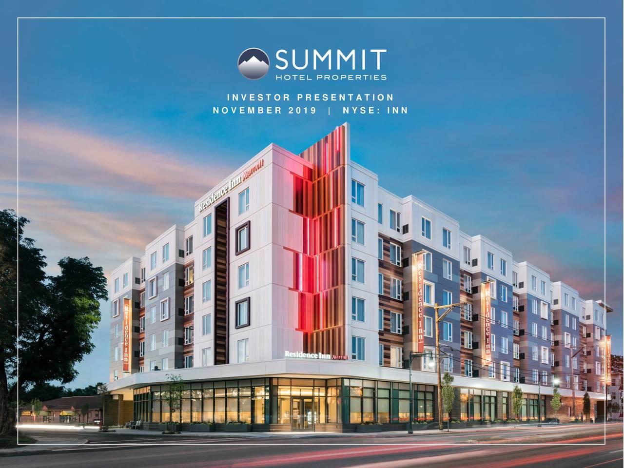 Summit Hotel Properties (INN) Investor Presentation - Slideshow - Summit Hotel Properties, Inc. (NYSE:INN) | Seeking Alpha