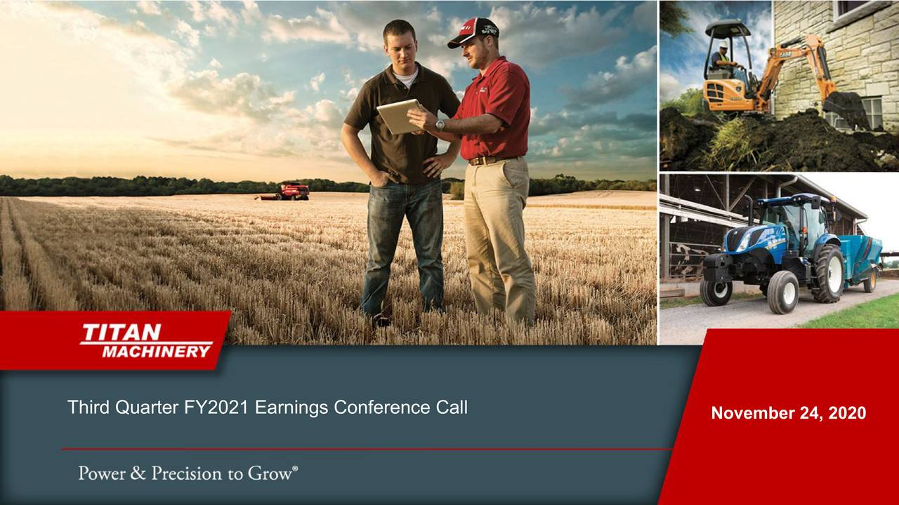 Titan Machinery Inc. 2021 Q3 - Results - Earnings Call Presentation (NASDAQ:TITN)