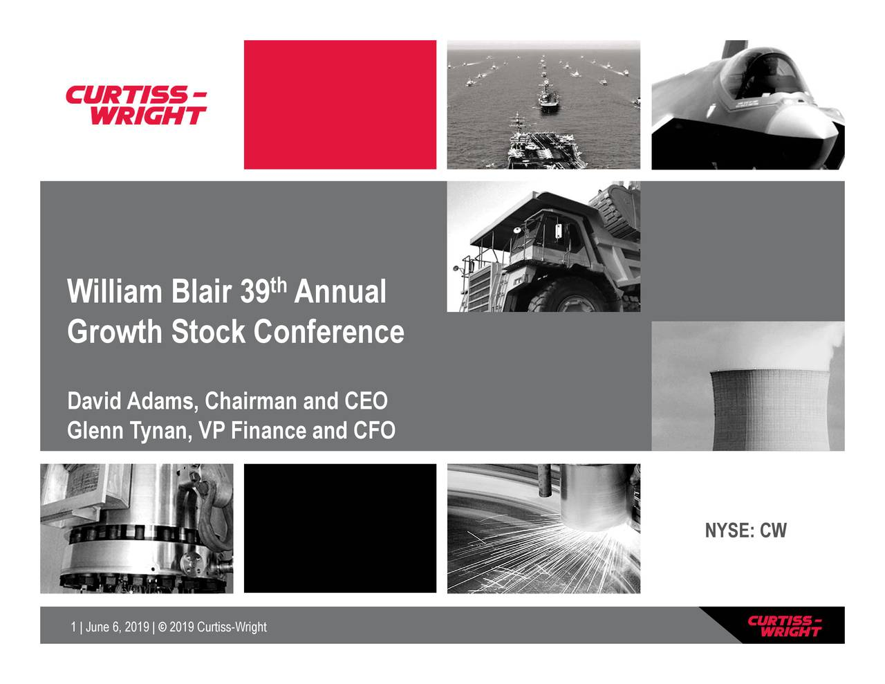 Curtiss-Wright (CW) Presents At William Blair Growth Stock Conference - Slideshow