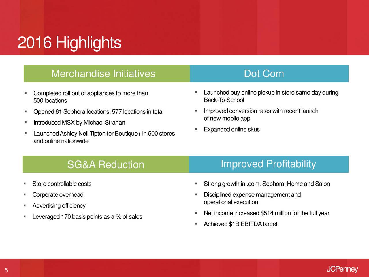 J.C. Penney Company Inc. 2016 Q4 - Results - Earnings Call Slides ...
