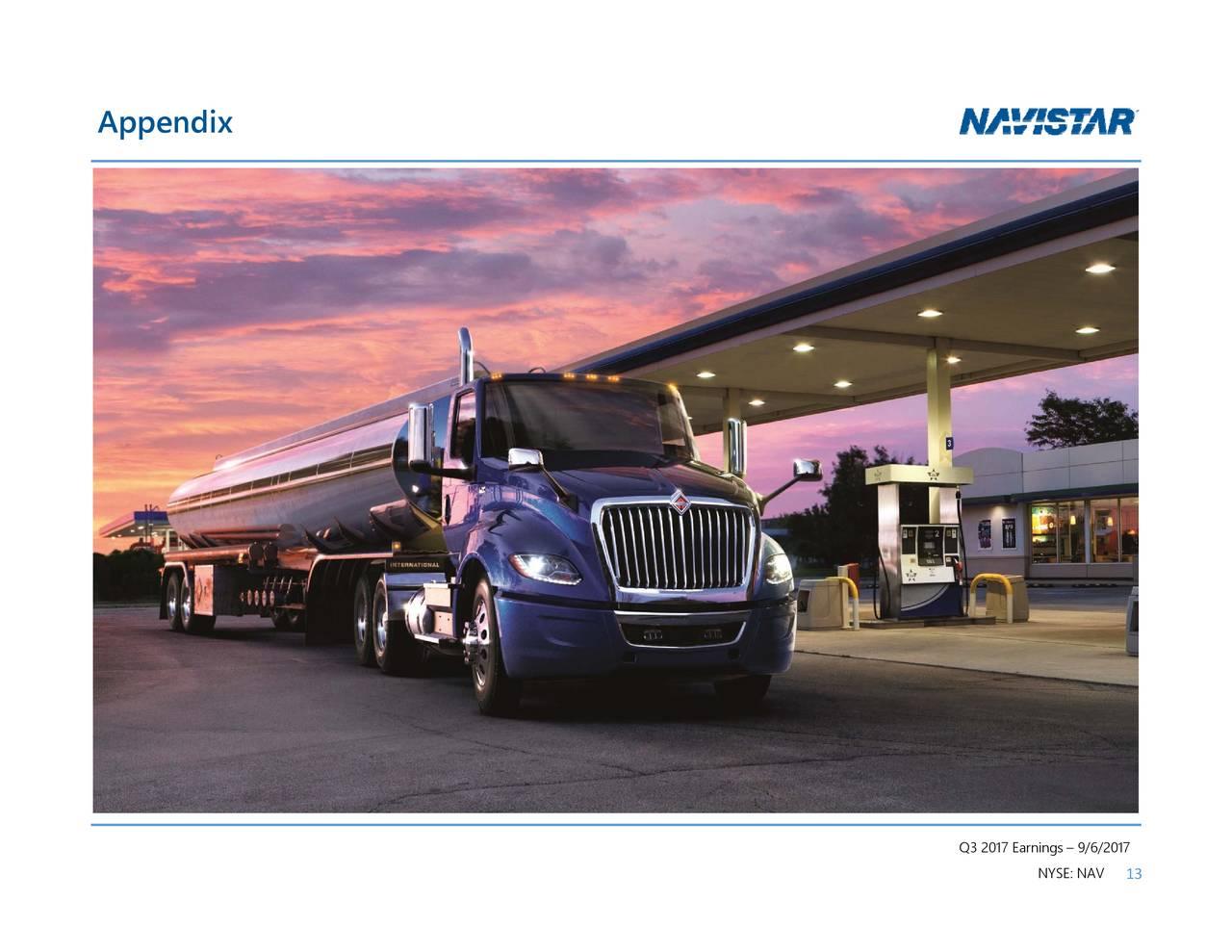 Navistar International Corporation 2017 Q3 Results Earnings Call 13 Liter Engine Diagram Slides Nysenav Seeking Alpha