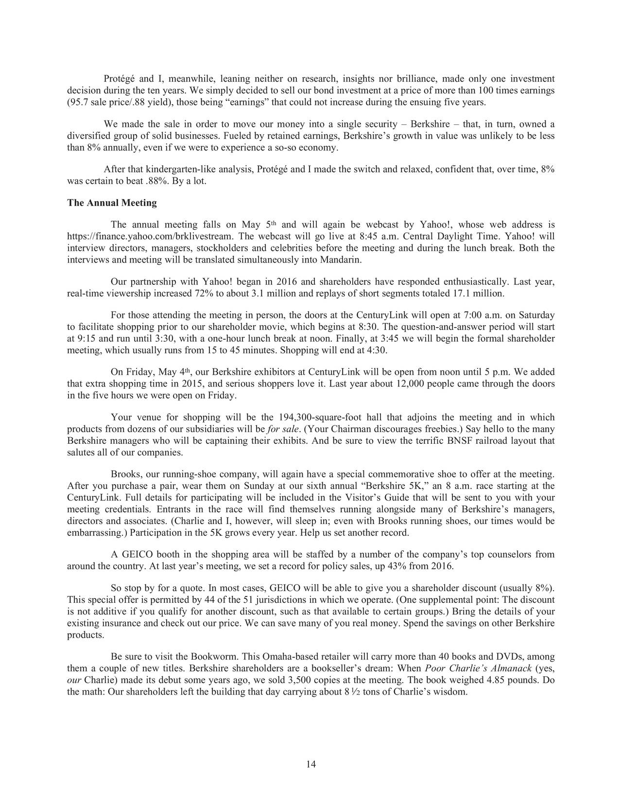a business analysis of the acquisition of geico corporation by berkshire hathaway Not only is the acquisition mr buffett's most ambitious — just weeks from his 85th birthday — but it is the company will continue to do business under the precision castparts name and maintain warren buffett's berkshire hathaway said to be near deal to buy.