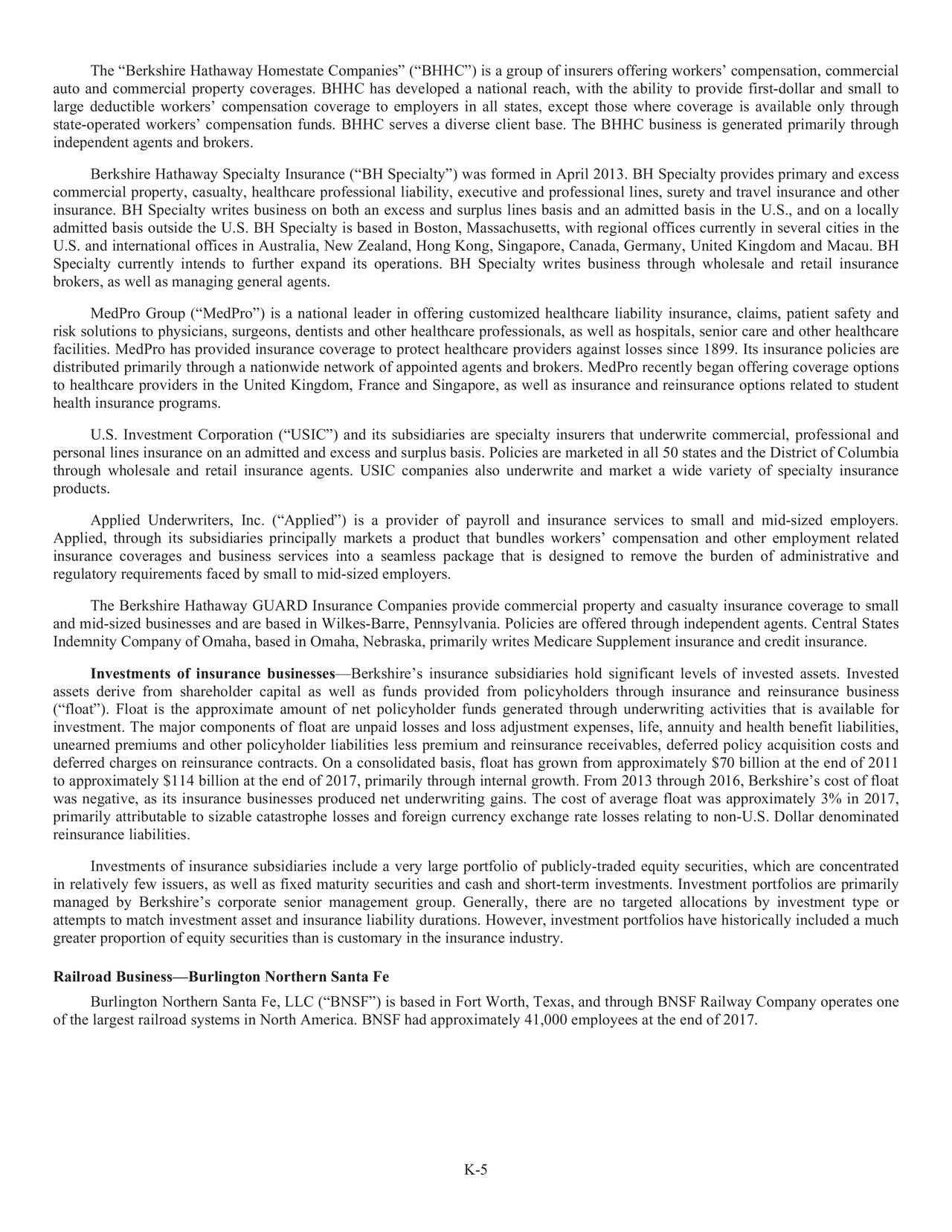 Berkshire Hathaway 2017 Annual Letter Berkshire Hathaway Inc Nyse Brk A Seeking Alpha