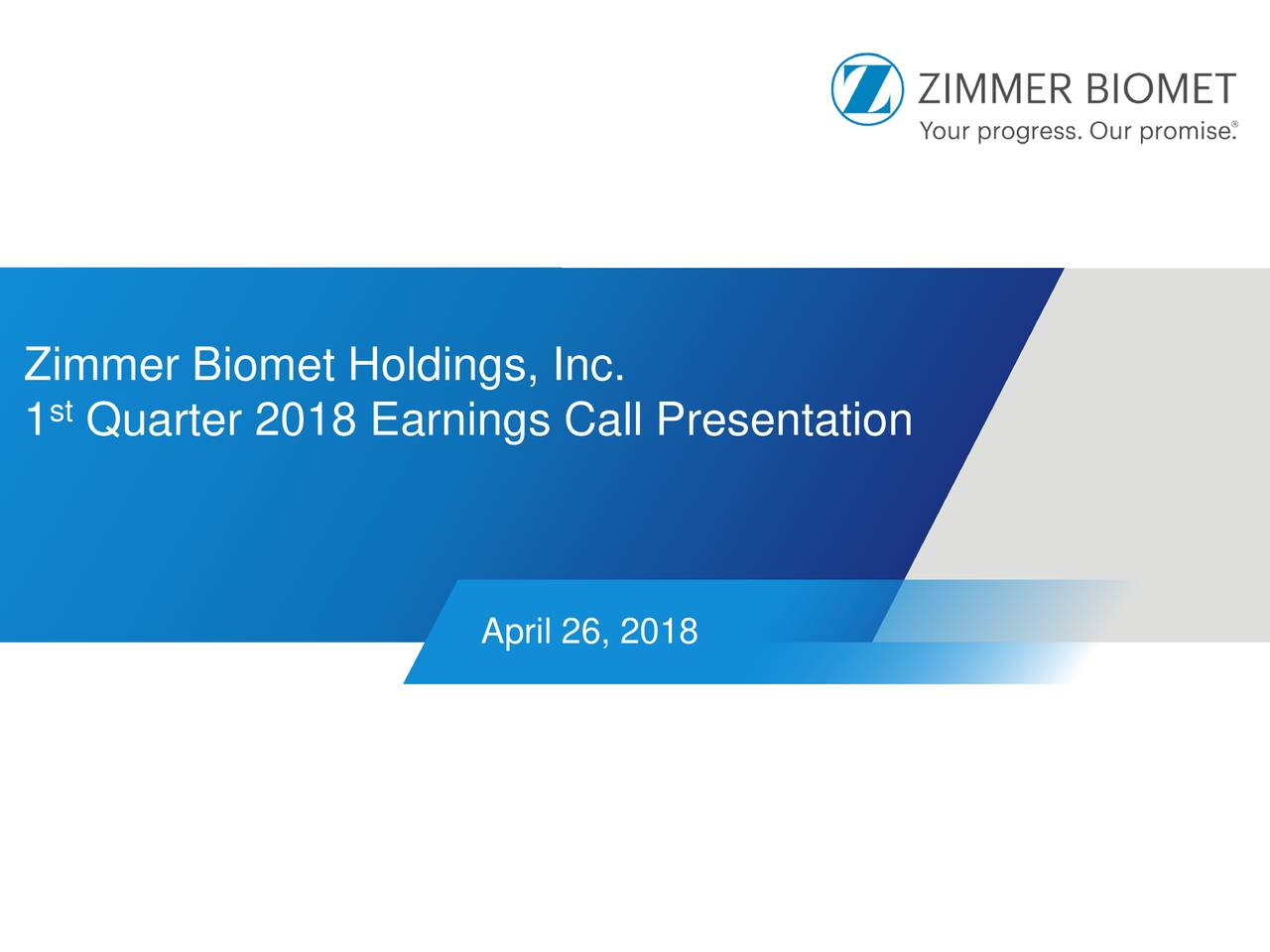 Zimmer biomet holdings inc 2018 q1 results earnings for Zimmer biomet holdings