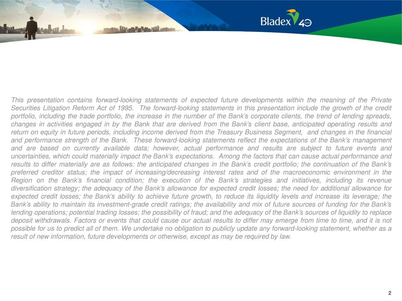 Banco Exterior: Banco Latinoamericano De Comercio Exterior, S.A 2019 Q1