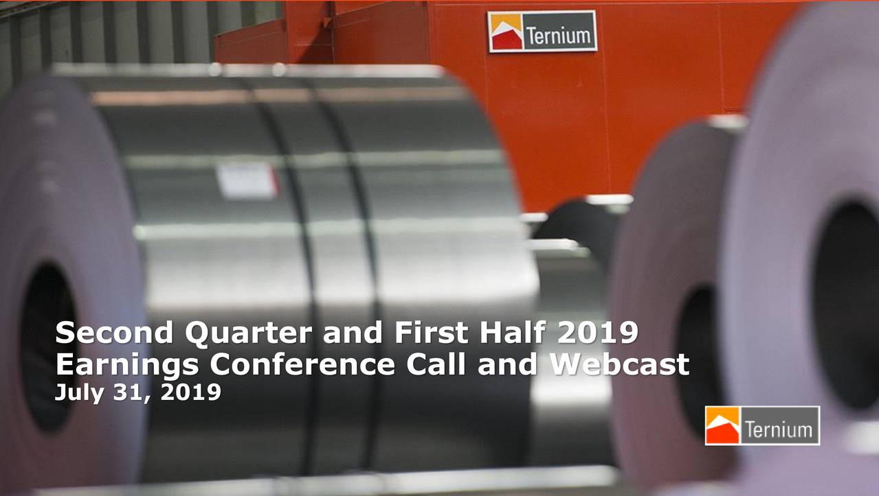 Second Quarter and First Half 2019
