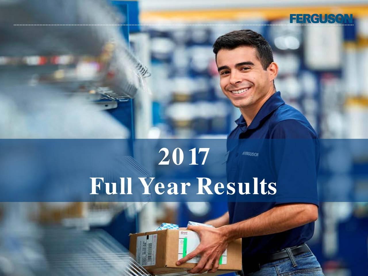 Ferguson Plc ADR 2017 Q4 - Results - Earnings Call Slides - Ferguson ...