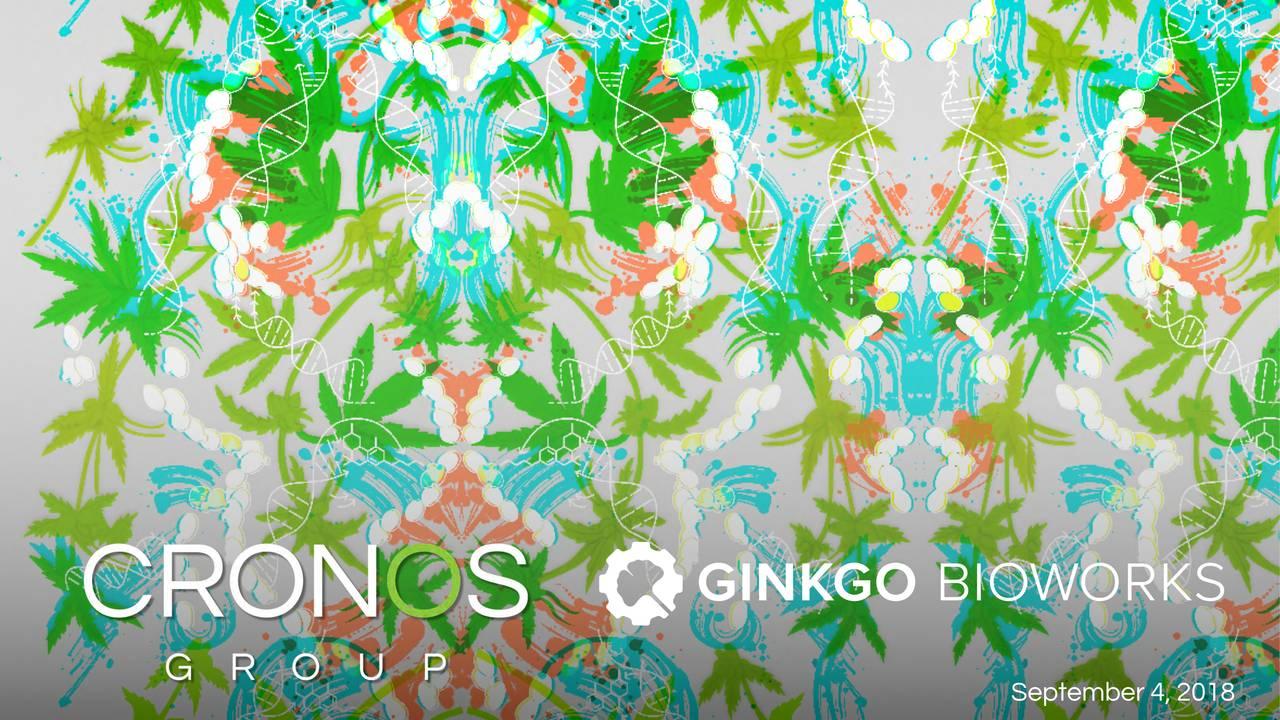 Cronos Groups Cron Announces Partnership With Ginkgo Bioworks