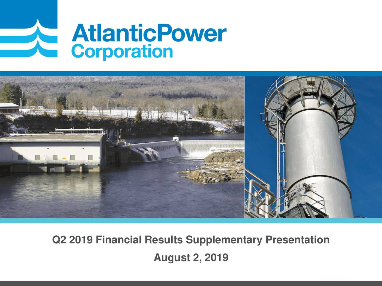 Q2 2019 Financial Results Supplementary Presentation