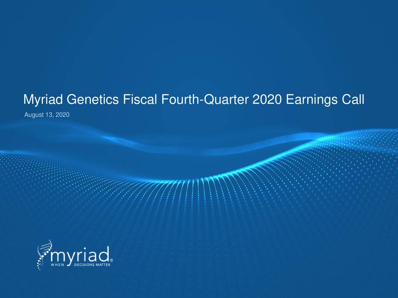 Myriad Genetics, Inc. 2020 Q4 - Results - Earnings Call Presentation (NASDAQ:MYGN)