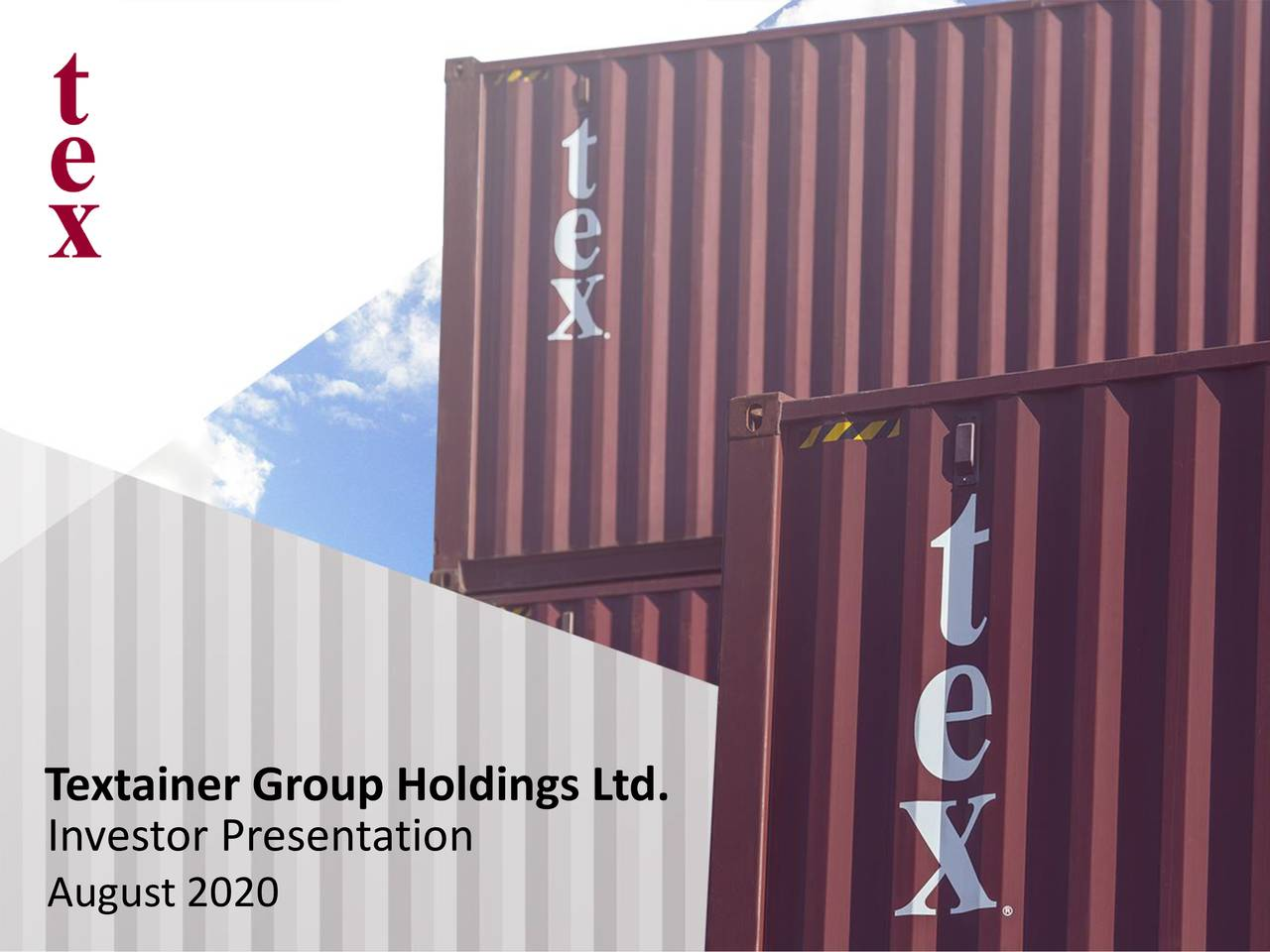 Textainer Group Holdings Limited 2020 Q2 - Results - Earnings Call Presentation (NYSE:TGH)