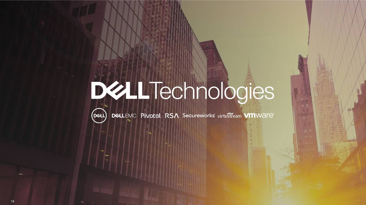 Earnings Disclaimer >> Dell Technologies Inc. 2019 Q3 - Results - Earnings Call Slides - Dell Technologies Inc. (NYSE ...