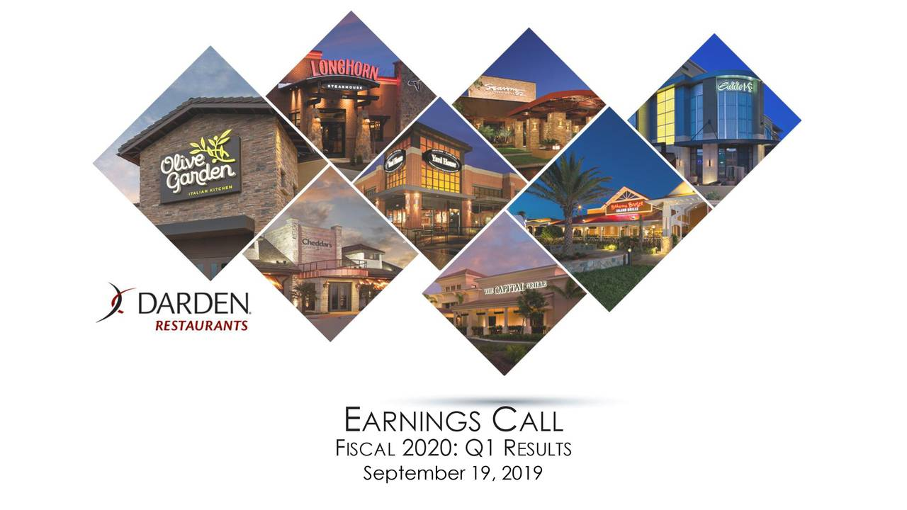 Darden Restaurants, Inc. 2020 Q1 - Results - Earnings Call Slides