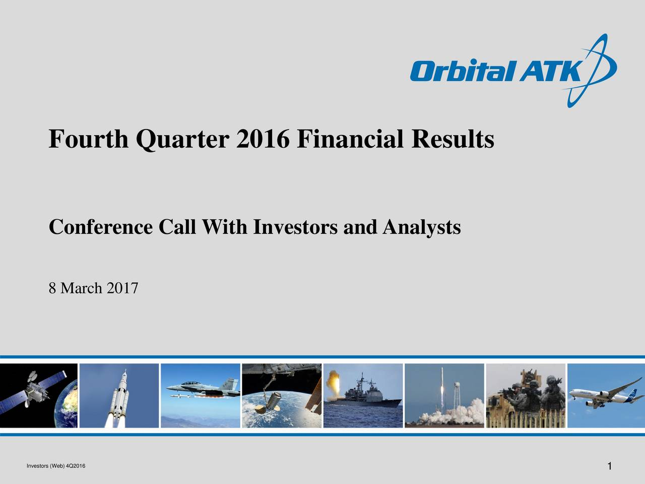 Conference Call With Investors and Analysts 8 March 2017 Investors (Web) 4Q2016 1