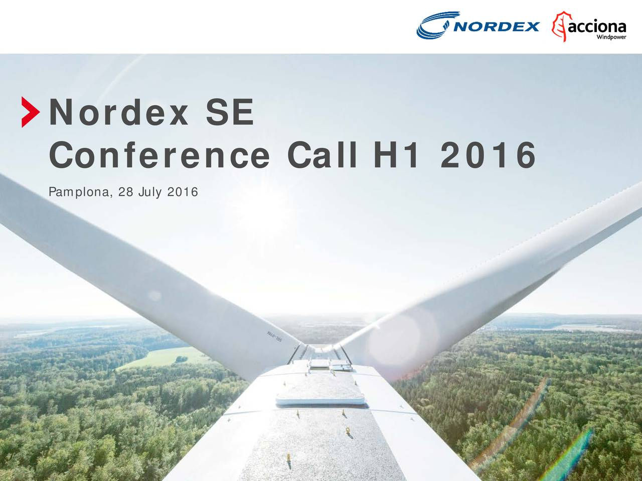 Conference Call H1 2016 Pamplona, 28 July 2016