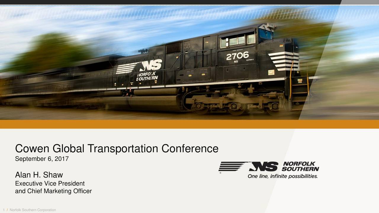 Nsc Stock Quote Norfolk Southern Nsc Presents At Cowen 10Th Annual Global