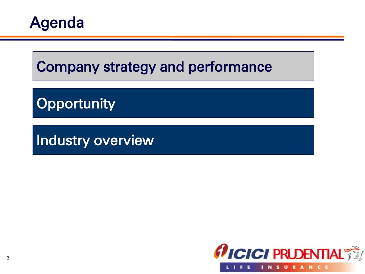 Company strategy and performance Opportunity Industry overview 3