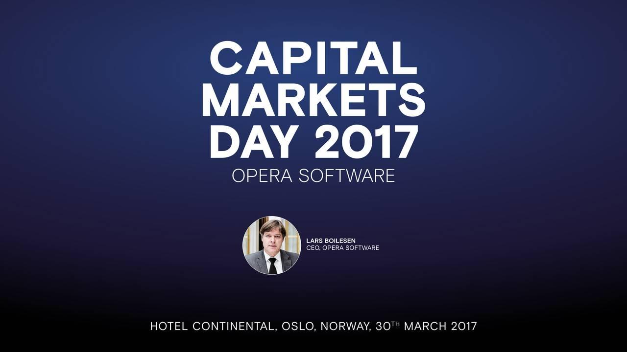 Opera Software Asa (OPESF) Investor Presentation - Slideshow