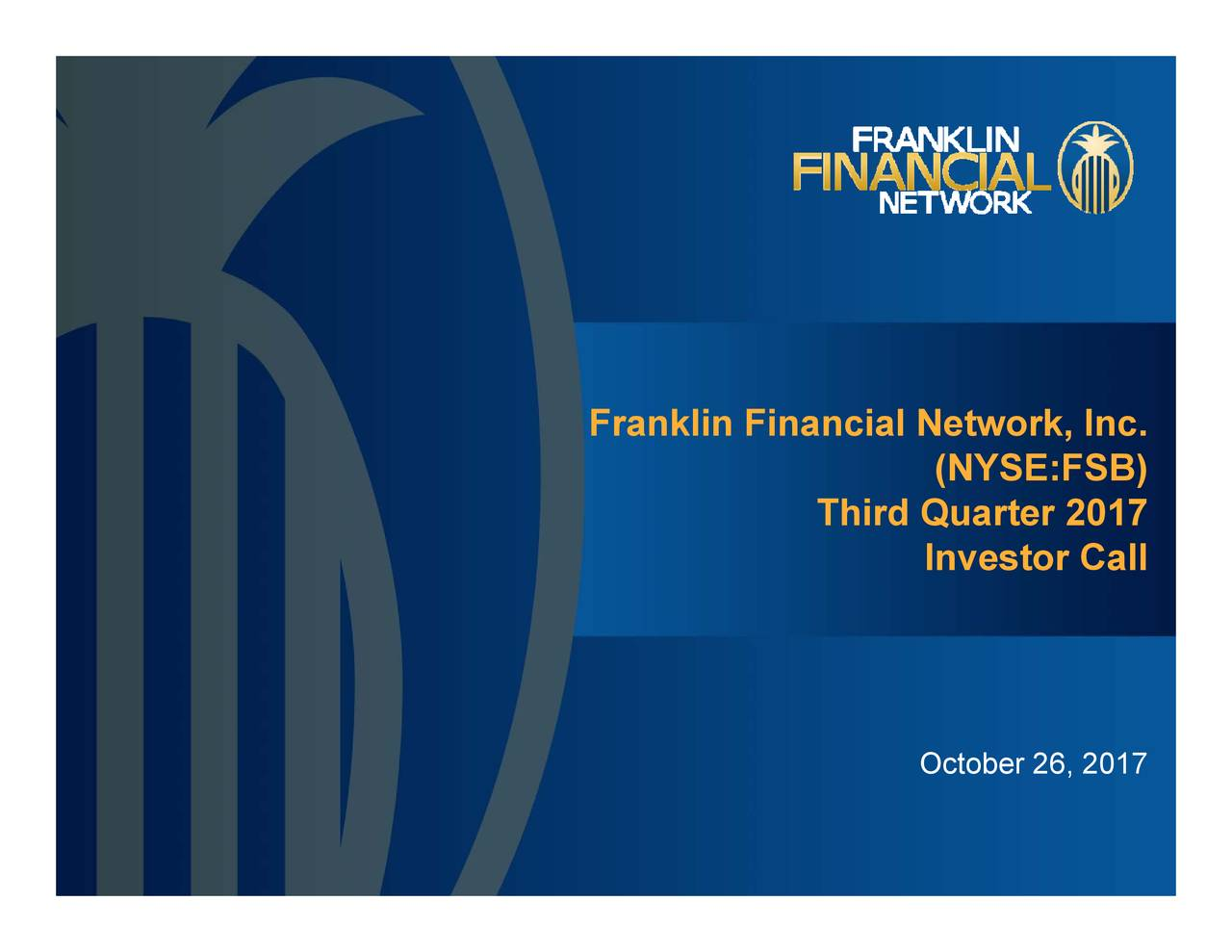 Franklin financial network ipo