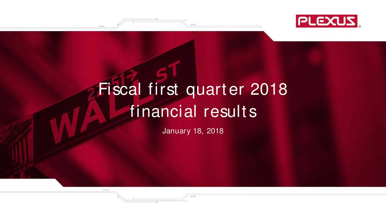 financial results January 18, 2018